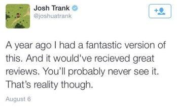 josh trank fant4stic blugger tweet